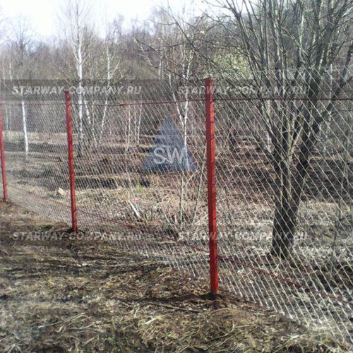 строительство заборов сетка рабица